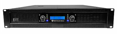 Rockville RPA12 5000 Watt Peak / 1400w RMS 2 Channel Power Amplifier Pro/DJ Amp
