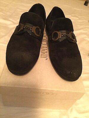 d4f3f13b5628 Men jimmy choo Suede Leather Shoes. With Jimmy Choo Signature Cuffs Size 43
