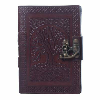 "Vintage Tree Of Life Leather Journal Notebook Men Women Diary 5"" x 7"" 200 Pages"