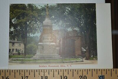 C 1908 Soldiers Monument - Utica New York Postcard - Undivided Back Thats Clean