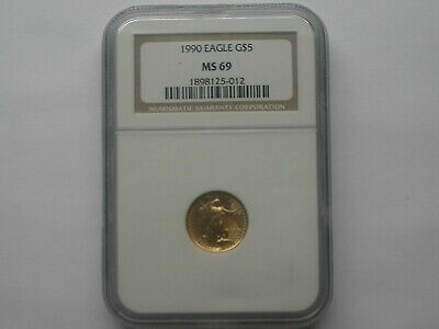 1990 1/10 oz American Gold Eagle NGC Graded MS 69