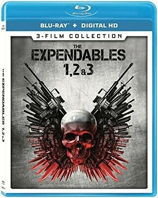 THE EXPENDABLES 1 2 3 New Sealed Blu-ray 3-Film Collection Sylvester Stallone