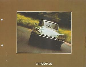 Citroen Ds 1973 Incl. Ds 23 Pallas Brochure Prospekt Catalogue Catalogo Folder