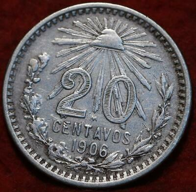 Coins Mexico 20 Cent Silver Coin 1906