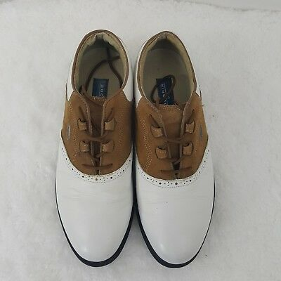 b70f29fcacc8c Nike Golf Zoom Air Wickie Last White Brown Leather PGA Golf Shoes Men s  Size 8