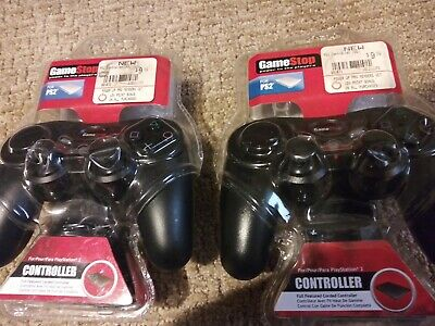 PS2 Wireless Controllers (2) Playstation 2 Gamestop 2 controllers NEW [2]