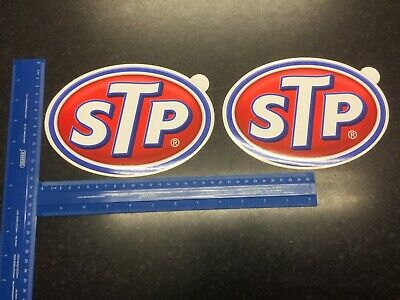 2 Large STP Oil Motorsport Race Rally Car Bike USA America Decal Stickers 200mm