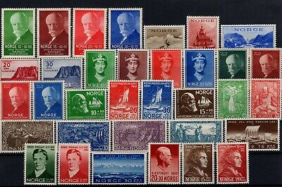 P101677/ Norvege Norway / Lot 1938 – 1942 Mint Mnh Full Sets 150 €