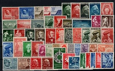 P101678/ Norvege Norway / Lot 1943 – 1950 Neufs ** / Mint Mnh 146 €
