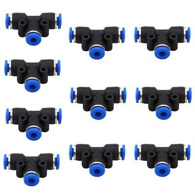 Push Fittings 4mm Or 5/32 OD - DERNORD 10 Pack Plastic to Connect Fitting...