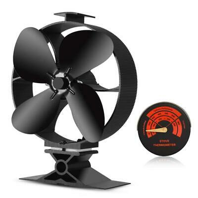 2018 New Designed Silent Operation 4-Blades Large Heat Powered Stove Fan...