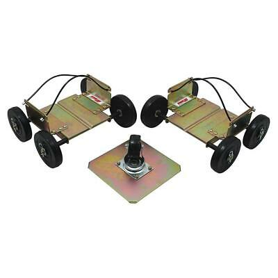 Extreme Max Big Wheel Drivable Snowmobile Dolly System Set of 3 - Wide