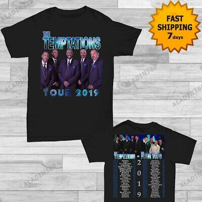 The Temptations and The Four Tops tour date 2019 T-Shirt size Men Black shirt Gi