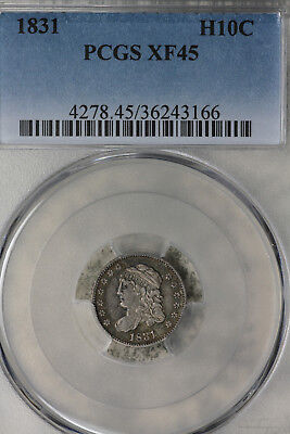 Nice 1831 Capped Bust Half Dime - PCGS XF45!!