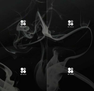 [BTS] WINGS 2nd Album 4 Version Set 4CD+384p Photo Book+4Photo Card SEALED K-POP