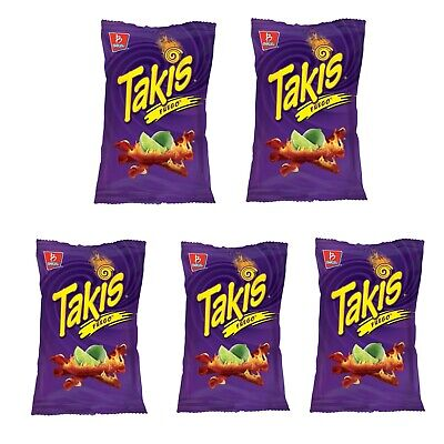 Barcel Takis Fuego Hot Chili Pepper & Lime Corn Snacks 9.9 oz Pack of 5