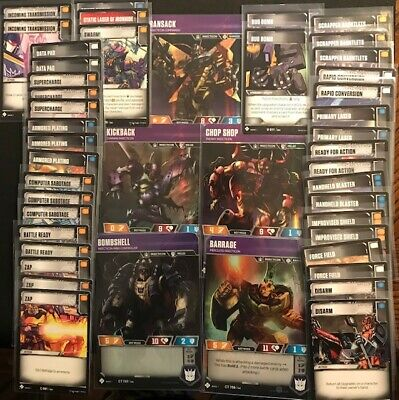Transformers tcg INSECTI-DECK!!! Complete Battle Deck 5 Characters 45 cards!