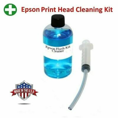 UNBLOCK PRINT HEAD Nozzles for Epson  Premium Printer Cleaning Kit Cleaner  125ml