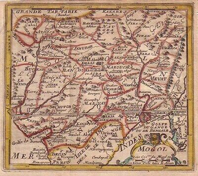 1703 Nice De Fer Map of Northern India