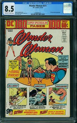 WONDER WOMAN # 211 US DC 1974   100PG Giant   CGC 8.5 VFN+