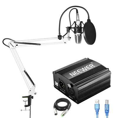 Neewer NW-700 Condenser Microphone Kit with USB 48V Phantom Power Supply,...