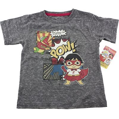 Ryan's World Toy Review POW! Boys T-Shirt Size 4T 5T Gray