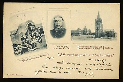 Cape Of Good Hope 1899 Victoria Illustrated Kruger Post Card To Europe. A451