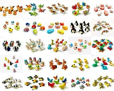 Set 2 pcs. Miniature Ceramic Animal Cute Figurine Statue Decorative Collectibles