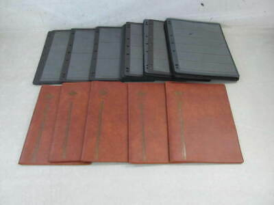 Nystamps Assorted Stamp Stock Page black Plastic sheet file album lot