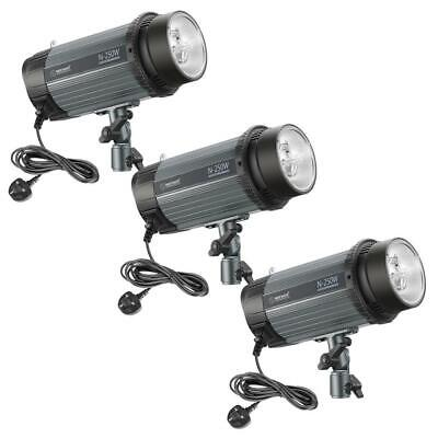 Neewer 750W(3-Pack 250W)5600K Photo Studio Strobe Flash Light Monolight with...