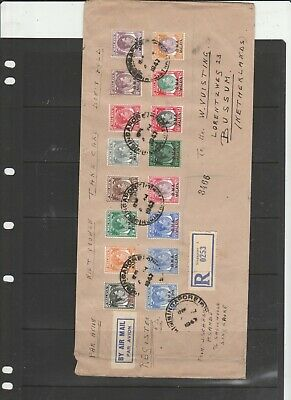 BMA Malaya 1947 cover to Netherlands with values to $5, incls SG 10 & 11, Singap