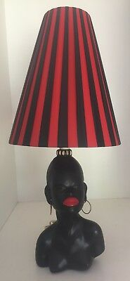 RETRO / VINTAGE BARSONY ERA / STYLE BLACK LADY LAMP in VG CONDITION