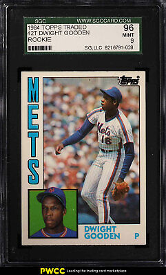 1984 Topps Traded Dwight Gooden ROOKIE RC #42T SGC 9 MINT (PWCC)