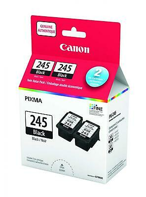 Genuine Canon PG-245 TWIN Ink Cartridge Value Pack, Black, 2 Pack - 8279B006