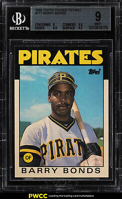 1986 Topps Traded Tiffany Barry Bonds ROOKIE RC #11T BGS 9 MINT (PWCC)