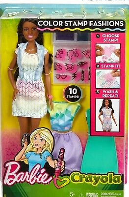 Barbie Crayola Color Stamp Fashions