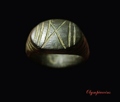 ** AMAZING **Ancient Roman Bronze LEGIONARY ring ** X LEGION **