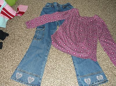 3e6dd6ea1d2ab 2 Pcs. Girls Clothing Nwt Faded Glory Demin Jeans W design   Xhilaration Top