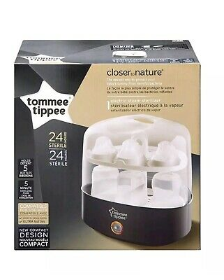 Tommee Tippee Closer to Nature Electric Steam Sterilizer Black 5min 5 bottles