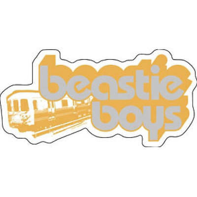 Beastie Boys Train Logo Vinyl Sticker, Officially Licensed Band Merchandise
