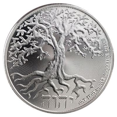 GEM ~ 2018 ~1~OZ ~PURE .999 SILVER ~ TREE of LIFE COIN ~ NEW ZEALAND MINT~ $9.99