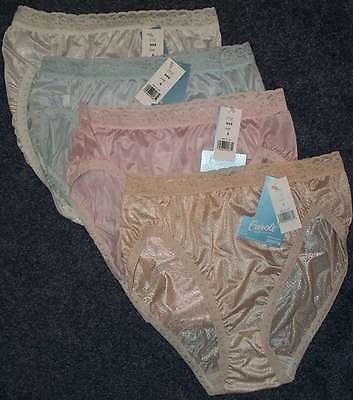 4 Pair Pastel French Cut Nylon PANTIES Size 7 Lace Top