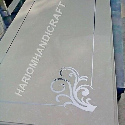 4'x2' Marble Italian Dining Table Top Mother Of Pearl Paua Shell Inlay Art E951