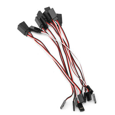 10pcs Lead Extension Servo Wire Cable Cord 150mm For Futaba JR Male To Female