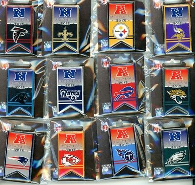 2018 / 2019 NFL Playoff Banner Pin Choice 12 Pins Playoffs Super Bowl 53 LIII