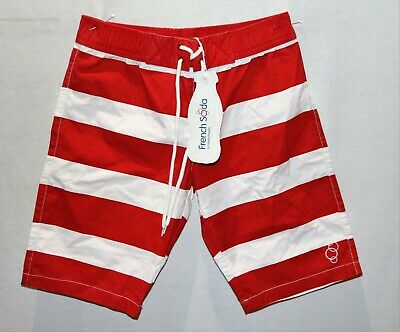 FRENCH SODA Brand Red White Stripe 'Charlie' Beach Shorts Size 7yrs BNWT #BOY1