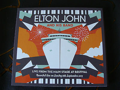 Slip CD Double: Elton John & Band : Live 2013 From The Main Stage At Bestival