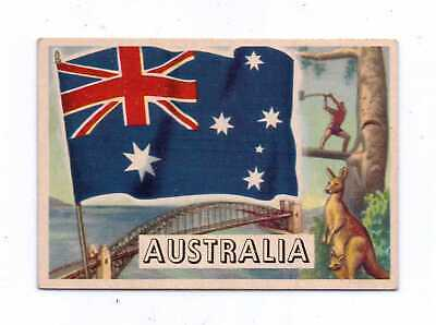 1956 Topps Flags Of The World #59 Australia Exnm