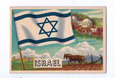 1956 Topps Flags Of The World #29 Israel Exnm