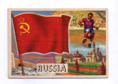 1956 Topps Flags Of The World #23 Russia Exnm